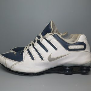 Nike Shox Men's Running Shoes White Navy Size 12